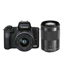 Фотоаппарат Canon EOS M50 Mark II kit ( EF-M15-45 IS STM и EF-M55-200 IS STM), черный [4728c015]