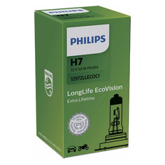 Лампа автомобильная галогенная Philips 12972LLECOC1, H7, 12В, 3100К, 1шт