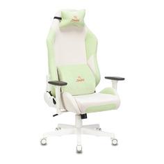 Кресло игровое ZOMBIE EPIC PRO, на колесиках, ткань, зеленый [epic pro lgreen]