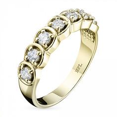 Кольцо из золота с бриллиантом э0301кц02135700 ЭПЛ Якутские Бриллианты