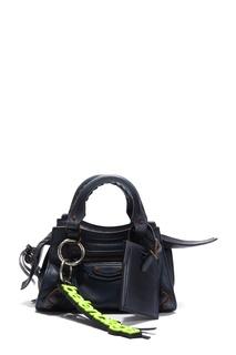 Темно-синяя кожаная сумка Balenciaga