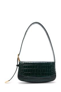Темно-зеленая кожаная сумка Balenciaga