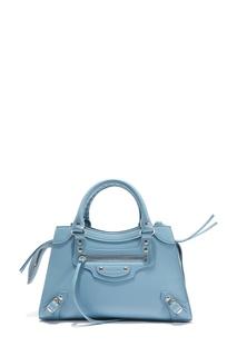 Голубая кожаная сумка Neo Classic City Small Balenciaga