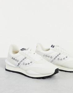 Кроссовки белого цвета с заклепками Ash-Белый