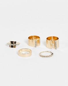 Набор золотистых колец ALDO Catta-Золотистый