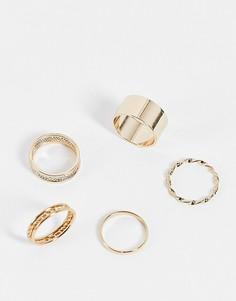 Набор из золотистых колец разного дизайна ALDO Cruviel-Золотистый