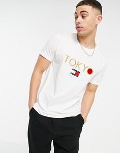 """Футболка с японским изображением и надписью """"Tokyo"""" Tommy Hilfiger-Белый"""