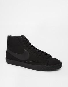Замшевые кроссовки Nike Blazer-Черный цвет