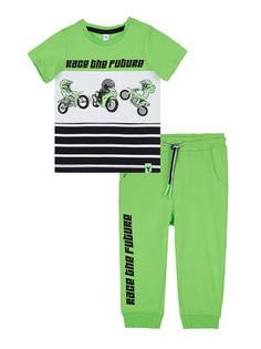 Комплект трикотажный фуфайка футболка брюки Playtoday