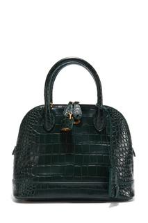 Темно-зеленая сумка с тиснением под кожу рептилии Balenciaga