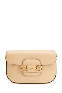 Бежевая сумка Horsebit 1955 Gucci