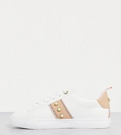 Белые кроссовки на шнуровке для широкой стопы Miss KG Wide Fit Kaylee-Белый