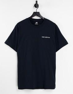 Черная футболка с линейным логотипом New Balance – эксклюзивно для ASOS-Черный цвет