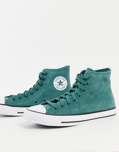 Зеленые замшевые кроссовки Converse Chuck Taylor All Star-Зеленый цвет
