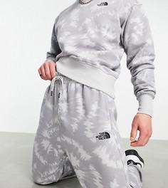 Базовые oversized-джоггеры с принтом тай-дай The North Face – эксклюзивно для ASOS-Серый