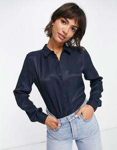 Темно-синяя рубашка Selected Arabella-Голубой