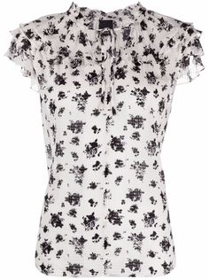 Pinko блузка с короткими рукавами и цветочным принтом