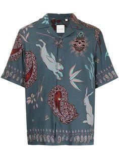 PAUL SMITH рубашка с короткими рукавами и принтом