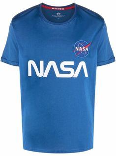 Alpha Industries футболка со светоотражающим логотипом из коллаборации с NASA