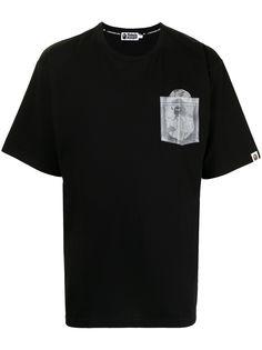 A BATHING APE® футболка с нагрудным карманом Bape