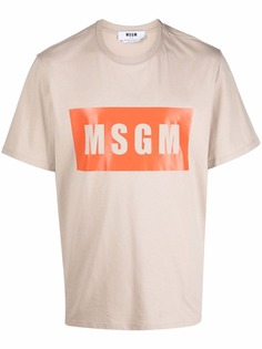 MSGM футболка с логотипом
