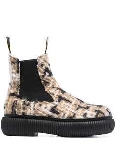 LANVIN ботинки челси с вязаным верхом
