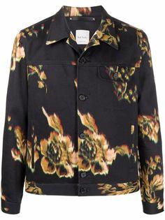 PAUL SMITH легкая куртка с цветочным принтом