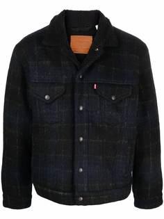 Levis клетчатая куртка из шерпы