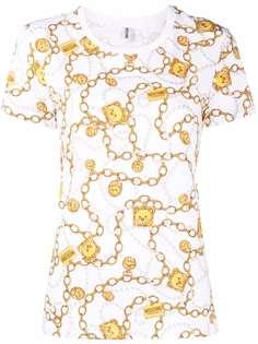 Moschino футболка с принтом