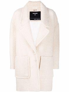 Patrizia Pepe однобортное пальто из ткани букле