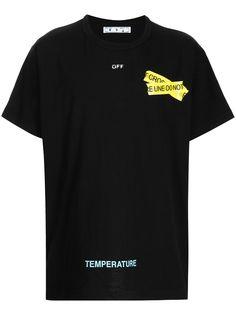 Off-White футболка с логотипом Fire Tape Arrows