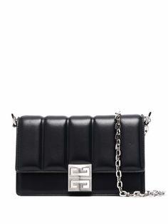 Givenchy стеганая сумка через плечо с логотипом