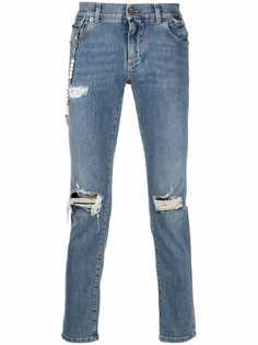 Dolce & Gabbana джинсы с прорезями