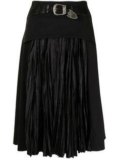 Toga Pulla плиссированная юбка миди с поясом