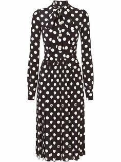 Dolce & Gabbana платье миди в горох