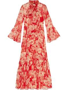 Gucci платье макси с цветочным принтом