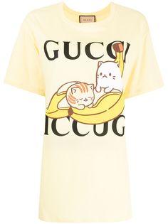 Gucci футболка с принтом из коллаборации с Bananya