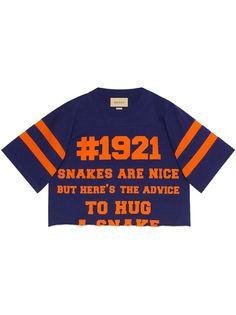 Gucci укороченная футболка 1921 LAveugle Par Amour