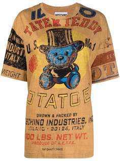 Moschino футболка оверсайз с принтом