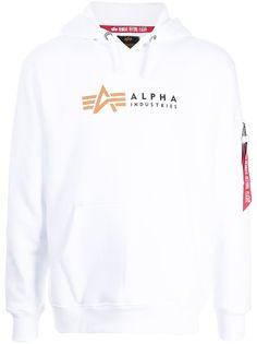 Alpha Industries худи с логотипом