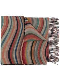 PAUL SMITH кашемировый шарф в полоску