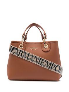 Emporio Armani сумка-тоут с ремешком на плечо и логотипом