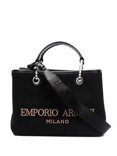 Emporio Armani маленькая сумка-тоут с логотипом