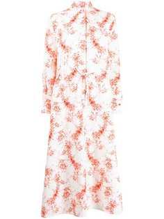 Valentino платье-рубашка с цветочным принтом