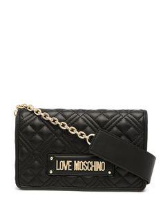 Love Moschino стеганая сумка через плечо с логотипом