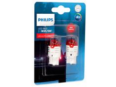 Лампа Philips Ultinon Pro3000 W21/5W 12V-LED Red W3x16q (2 штуки) 11066U30RB2