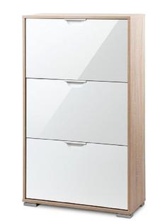 Обувница Vental Нова-3 Фасады МДФ Дуб Сонома-White Gloss