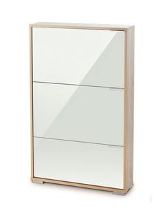 Обувница Vental Вива-3LW Дуб Сонома-White стекло