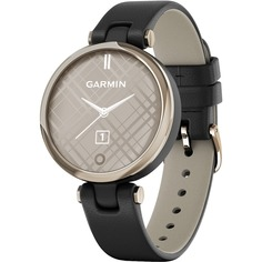 Смарт-часы Garmin Lily Emea CreamGold Black Leather (010-02384-B1)