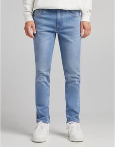 Синие узкие джинсы Bershka-Голубой